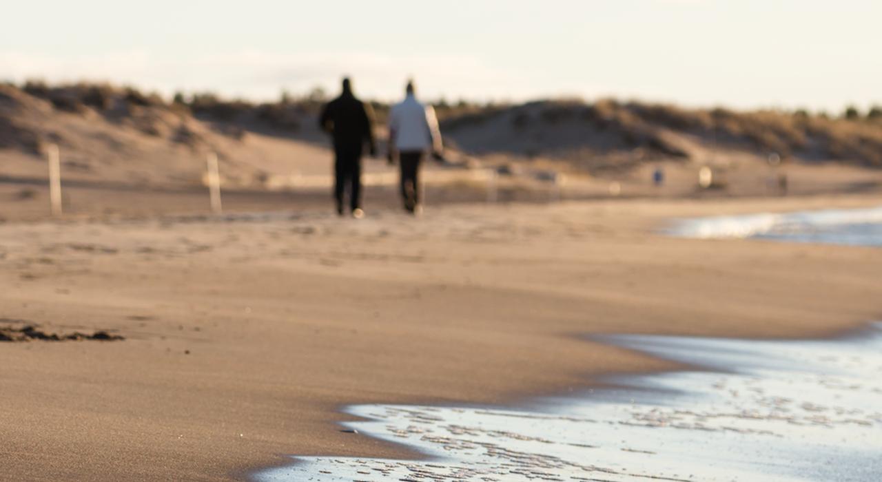 Hiekkainen ranta sopii suunnitteluun
